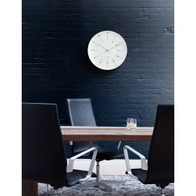 Arne Jacobsen Bankers Wanduhr Ø21cm