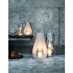 Holmegaard Design with Light Laterne mit Lederhenkel klar 25cm