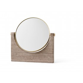 Menu Pepe Marble Mirror Brass Honed Brown Spiegel