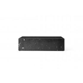Menu Plinth Low Black Marble Sockel