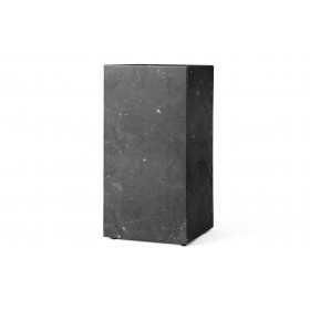 Menu Plinth Tall Black Marble Sockel