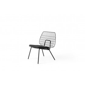 Menu WM String Lounge Chair Black Sessel