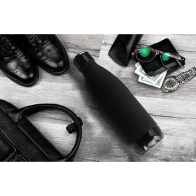 ASOBU CENTRAL PARK TRAVEL BOTTLES Isoliertrinkflasche SBV17 BLACK/BLACK