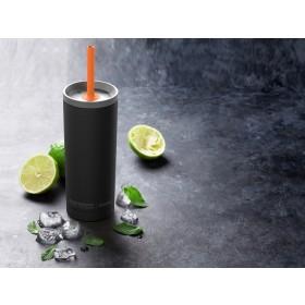 ASOBU SUPERB SIPPY Isoliertrinkflasche mit Strohalm ICT200 BLACK