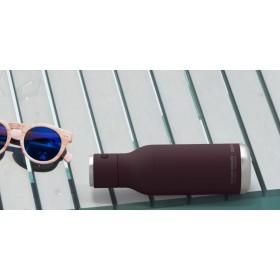 ASOBU WIRELESS Isoliertrinkflasche mit integriertem Lautsprecher BT60 BURGUNDY