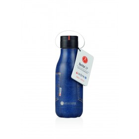 Les Artistes Paris Bottle UP Isoliertrinkflasche 280ml Pocket Blue Jean