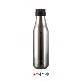 Les Artistes Paris Bottle UP Time'UP Isoliertrinkflasche 500ml Crystal Silver