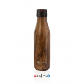 Les Artistes Paris Bottle UP Time'UP Isoliertrinkflasche 500ml Wood