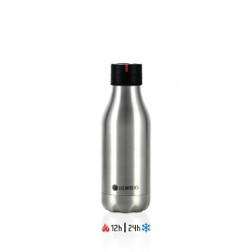 Les Artistes Bottle UP Time'UP Isoliertrinkflasche 280ml Metallic argent
