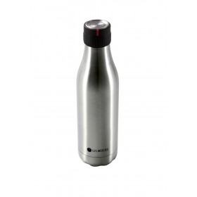 Les Artistes Bottle UP Time'UP Isoliertrinkflasche  500ml Metallic argent