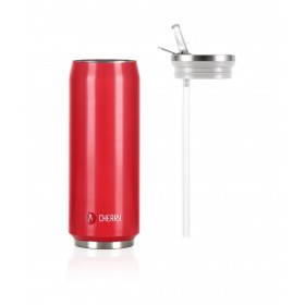 Les Artistes Paris Pull Can'it Isoliertrinkdose 500ml Cherry Leuchtend Rot