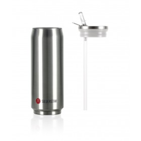 Les Artistes Paris Pull Can'it Isoliertrinkdose 500ml Silverstar