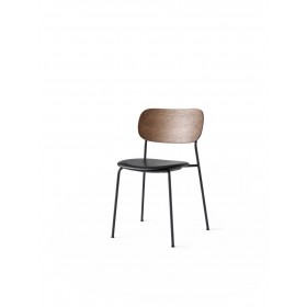 Menu Co Chair Dining Chair Black Steel Base Leather Dakar Dark Stained Oak Back Esszimmerstuhl