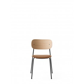 Menu Co Chair Dining Chair Black Steel Base Leather Dakar Seat Natural Oak Back Esszimmerstuhl