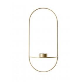 Menu POV Oval Teelichthalter Brass Messing