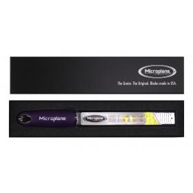 Microplane PREMIUM CLASSIC Zester Reibe lila inkl. Geschenkbox und 1C Druck auf Griff