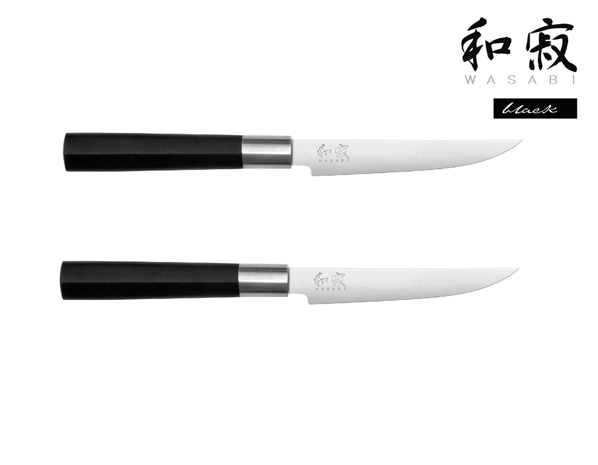 KAI WASABI BLACK Wasabi Black 2er Set Steakmesser