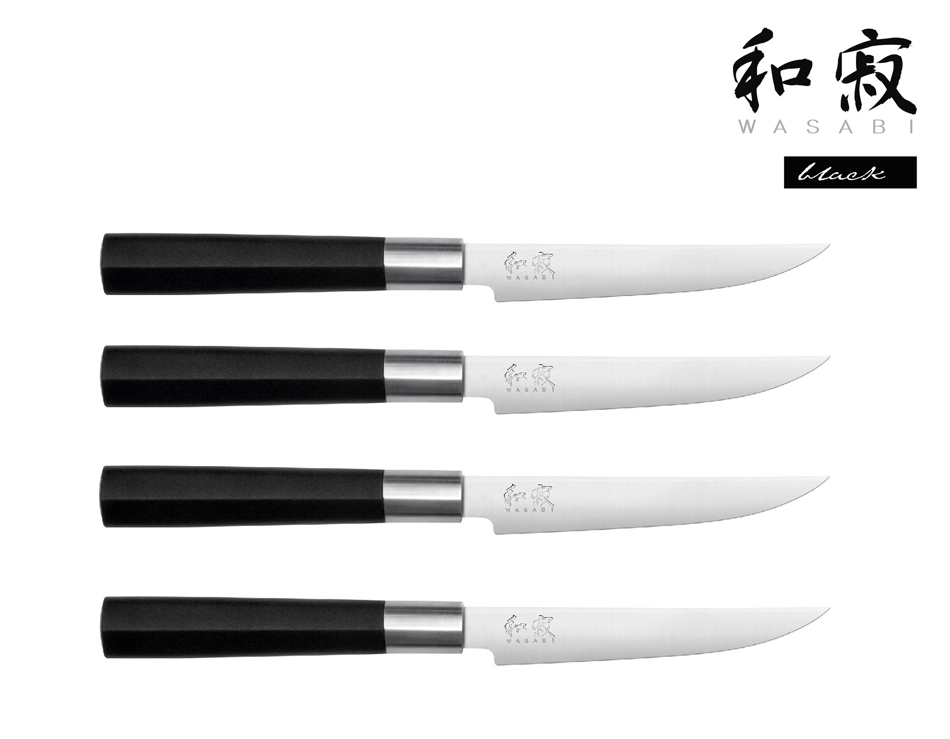 KAI WASABI BLACK Wasabi Black 4er Set Steakmesser
