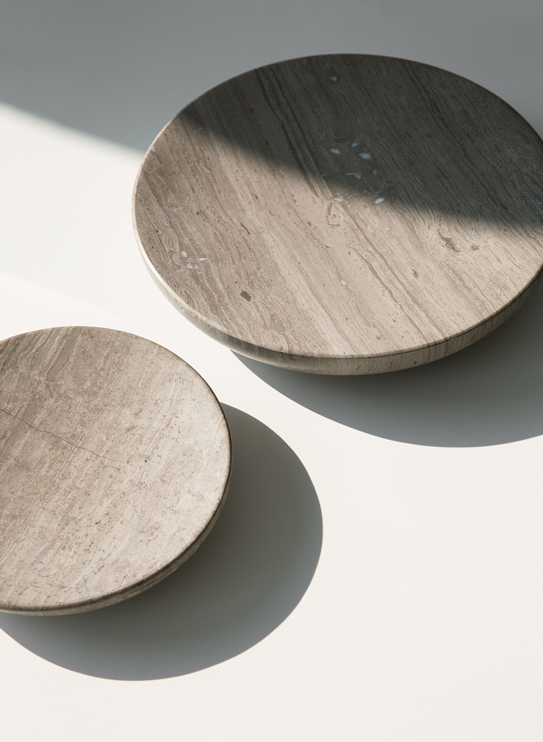Menu Hover Bowl S Honed Brown Marble Schale