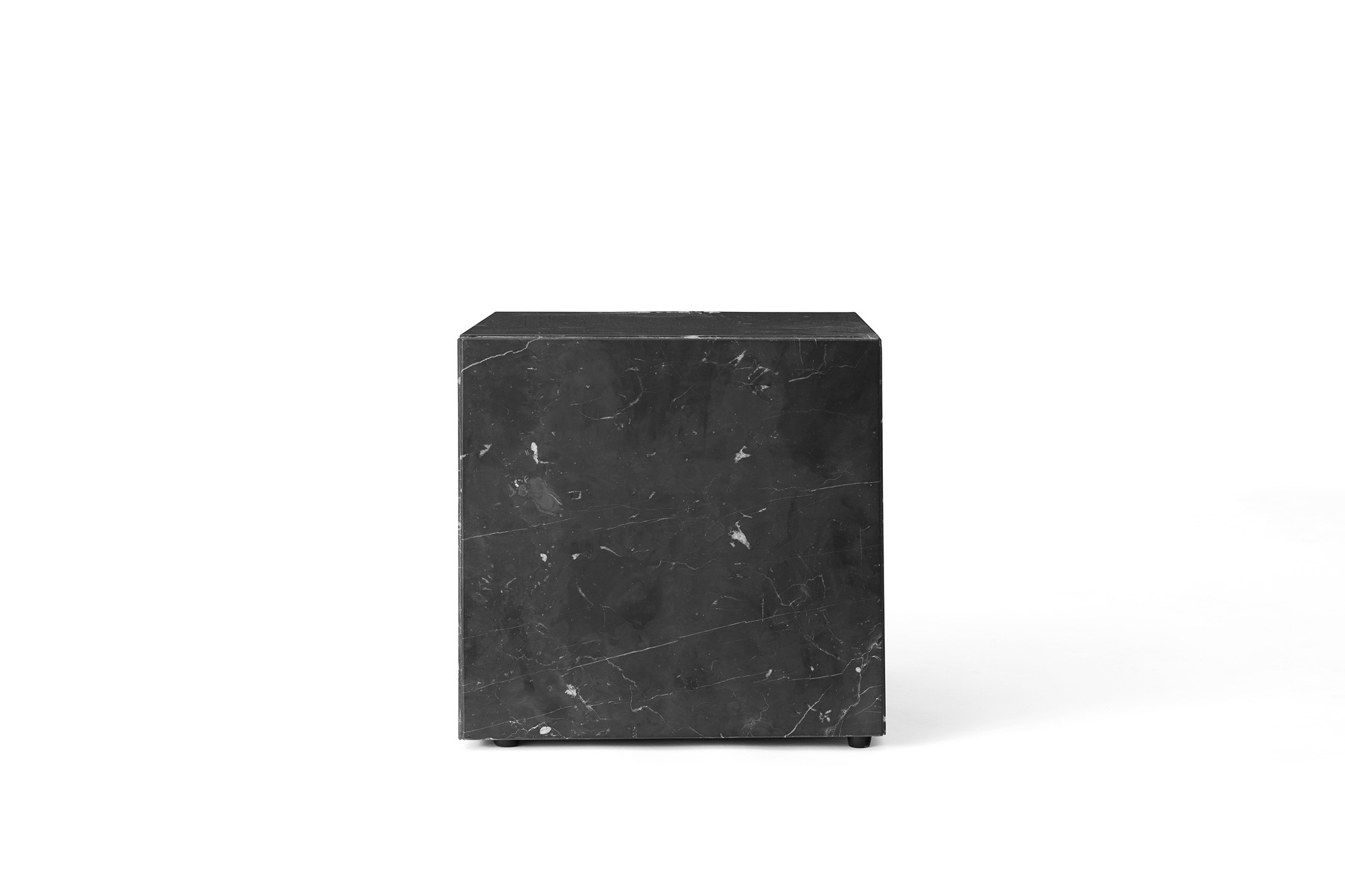 Menu Plinth Cubic Black Marble Sockel