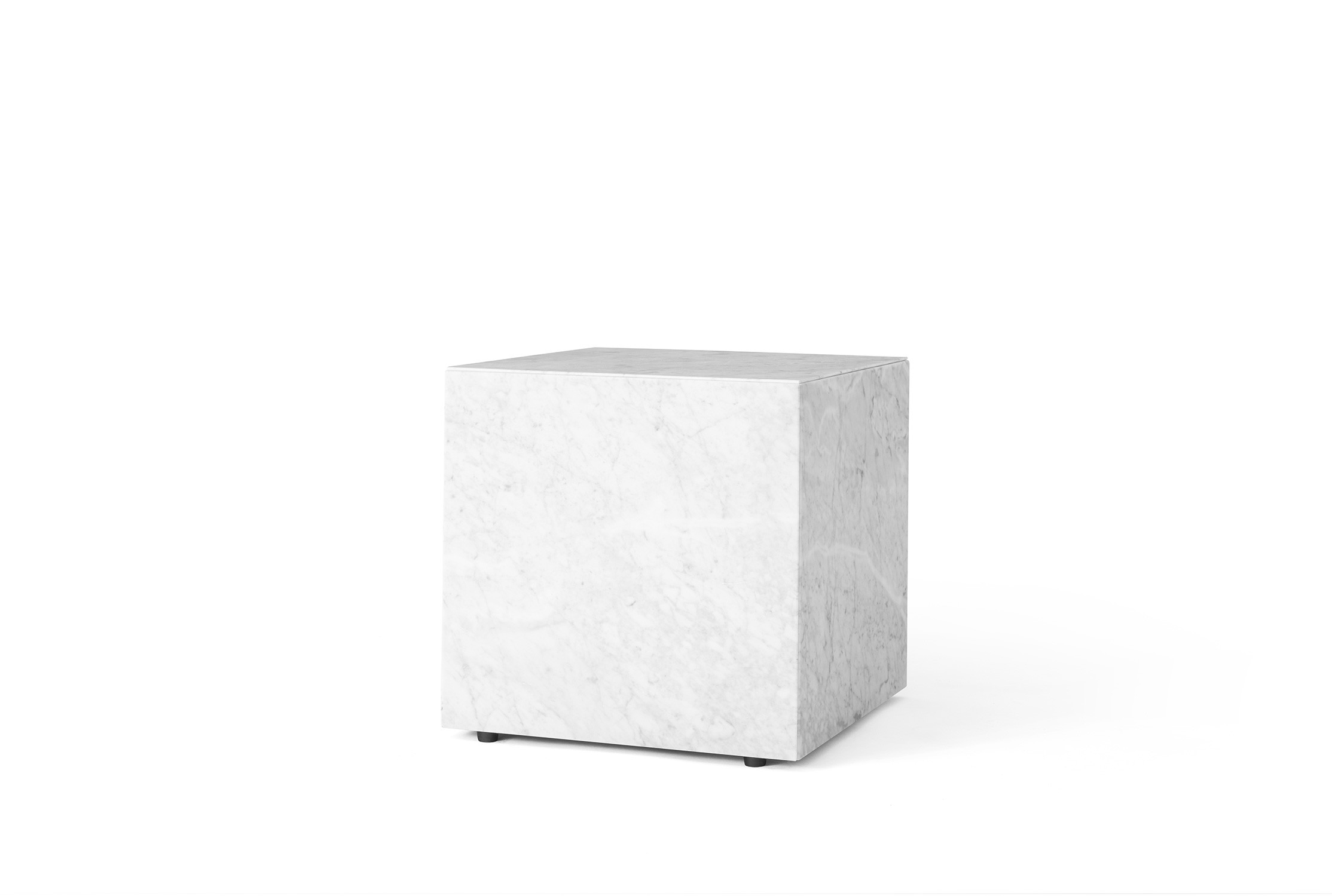 Menu Plinth Cubic White Mable Sockel
