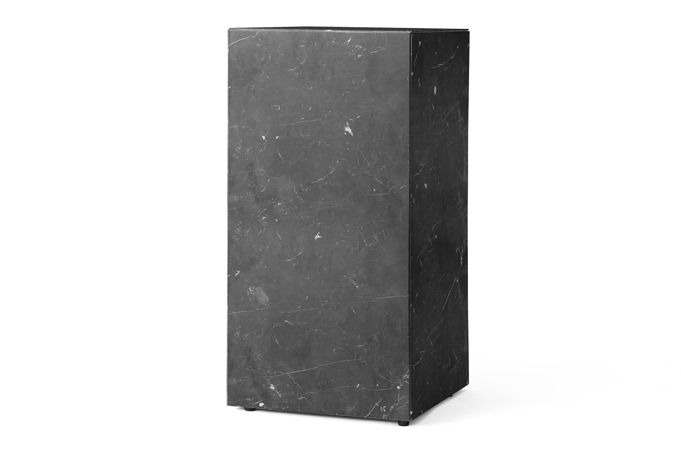 Menu Plinth Tall Black Marble Sockel