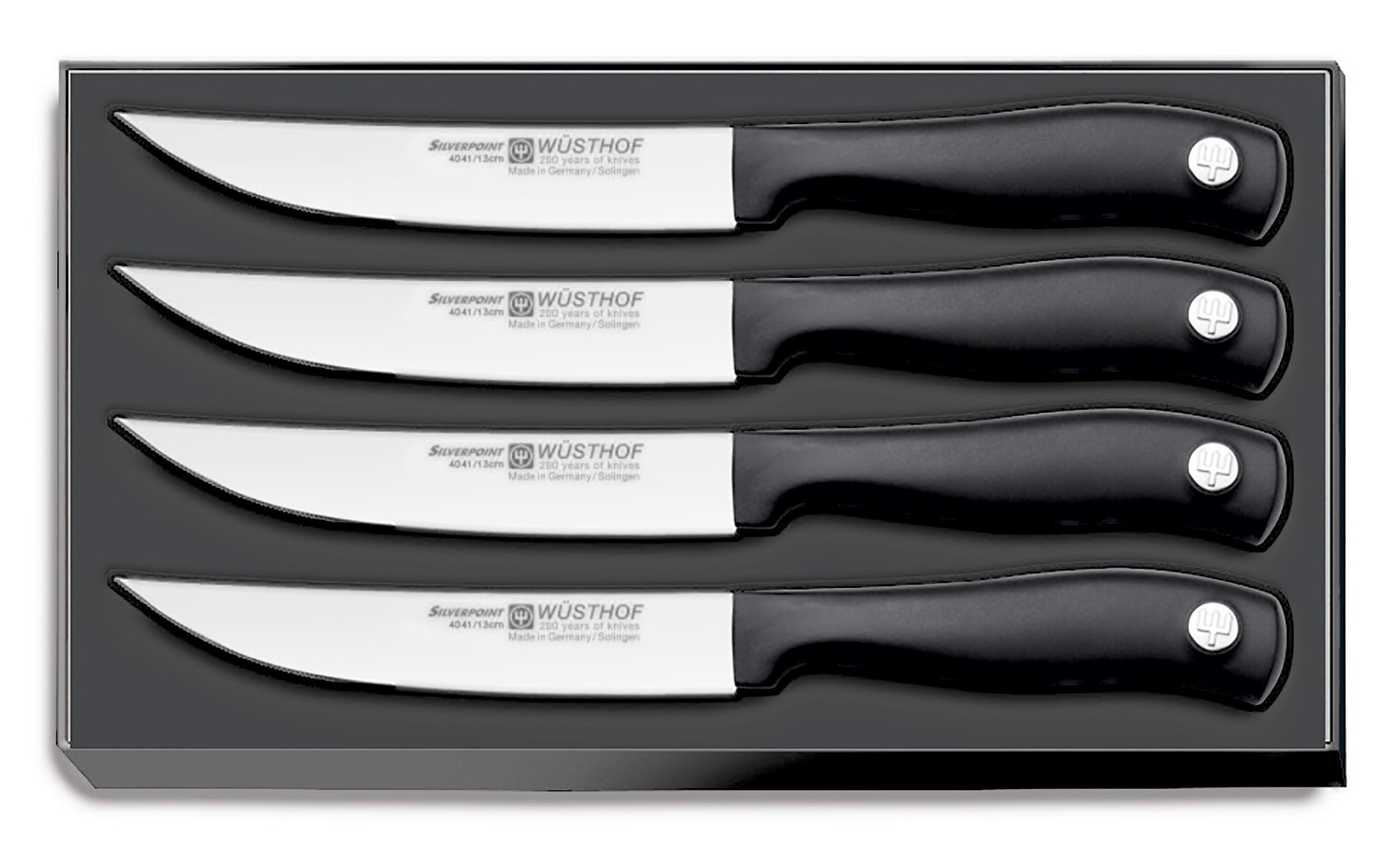 Wüsthof SILVERPOINT Steakmessersatz 4-tlg