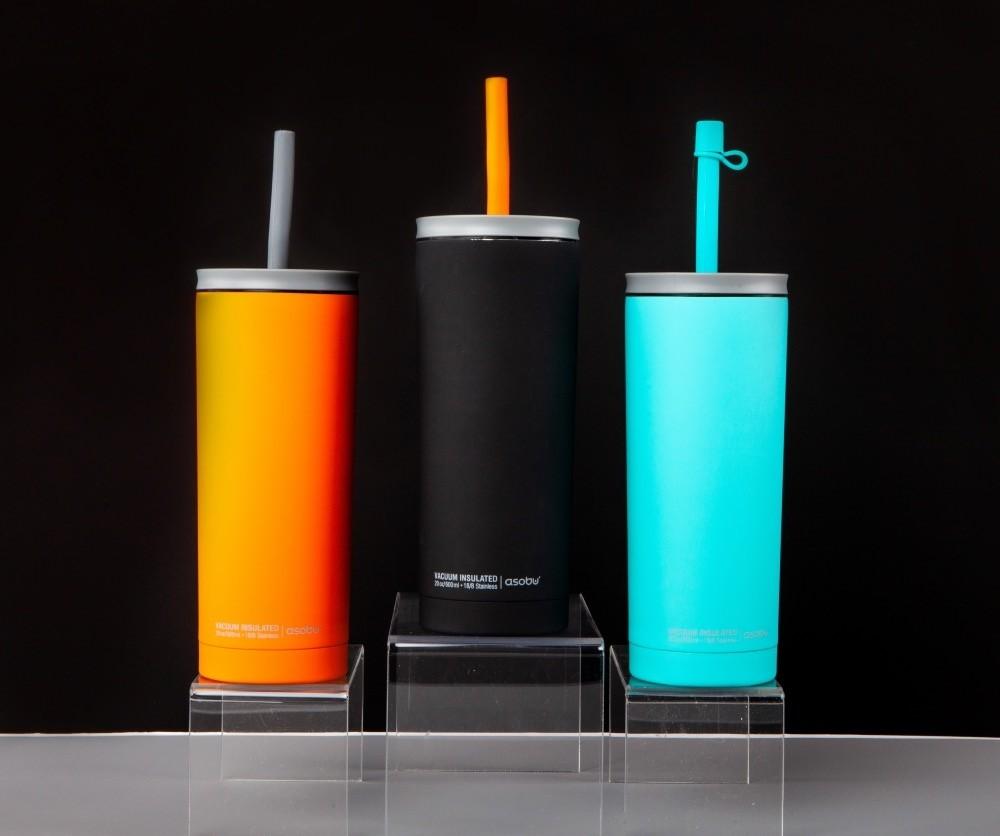 ASOBU SUPERB SIPPY Isoliertrinkflasche mit Strohalm ICT200 TEAL
