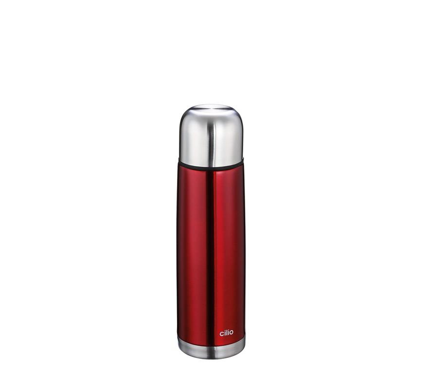 Cilio Isolierflasche COLORE 0,5L metallic rot