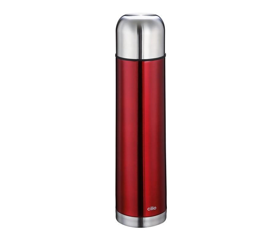 Cilio Isolierflasche COLORE 1,0L metallic rot
