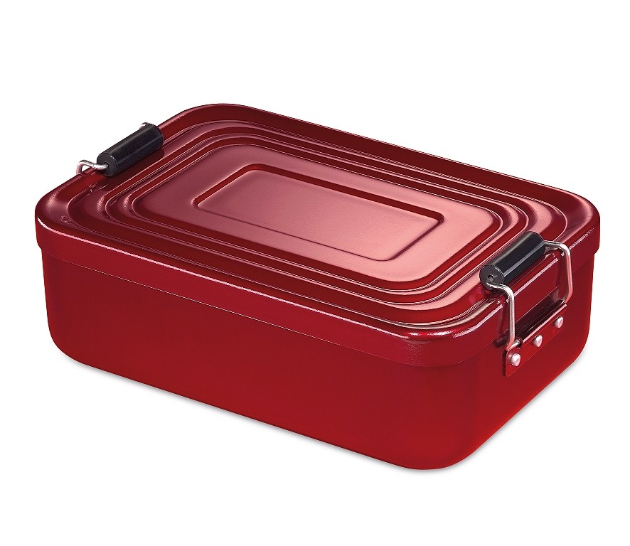 Küchenprofi Lunchbox groß Aluminium rot