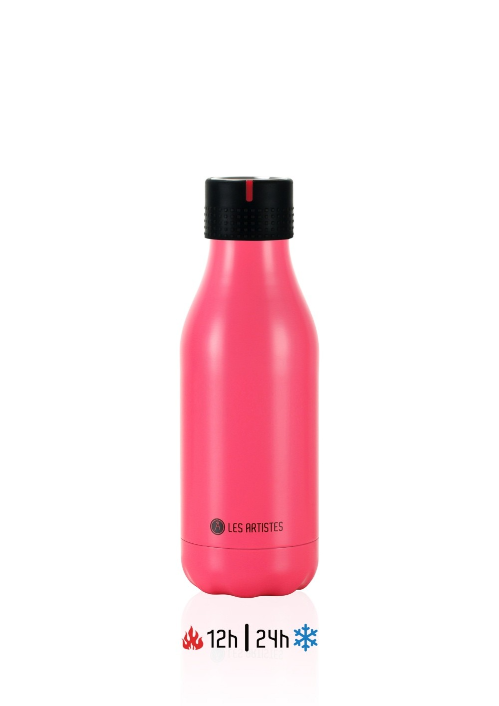 Les Artistes Bottle UP Time'UP Isoliertrinkflasche  280ml Pink mat