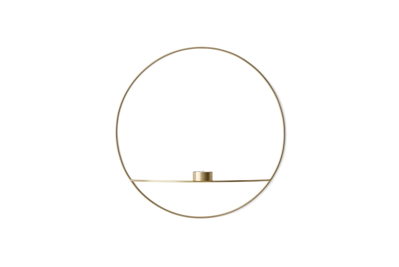 Menu POV Circle Tealight Candle holder Teelichthalter L Brass