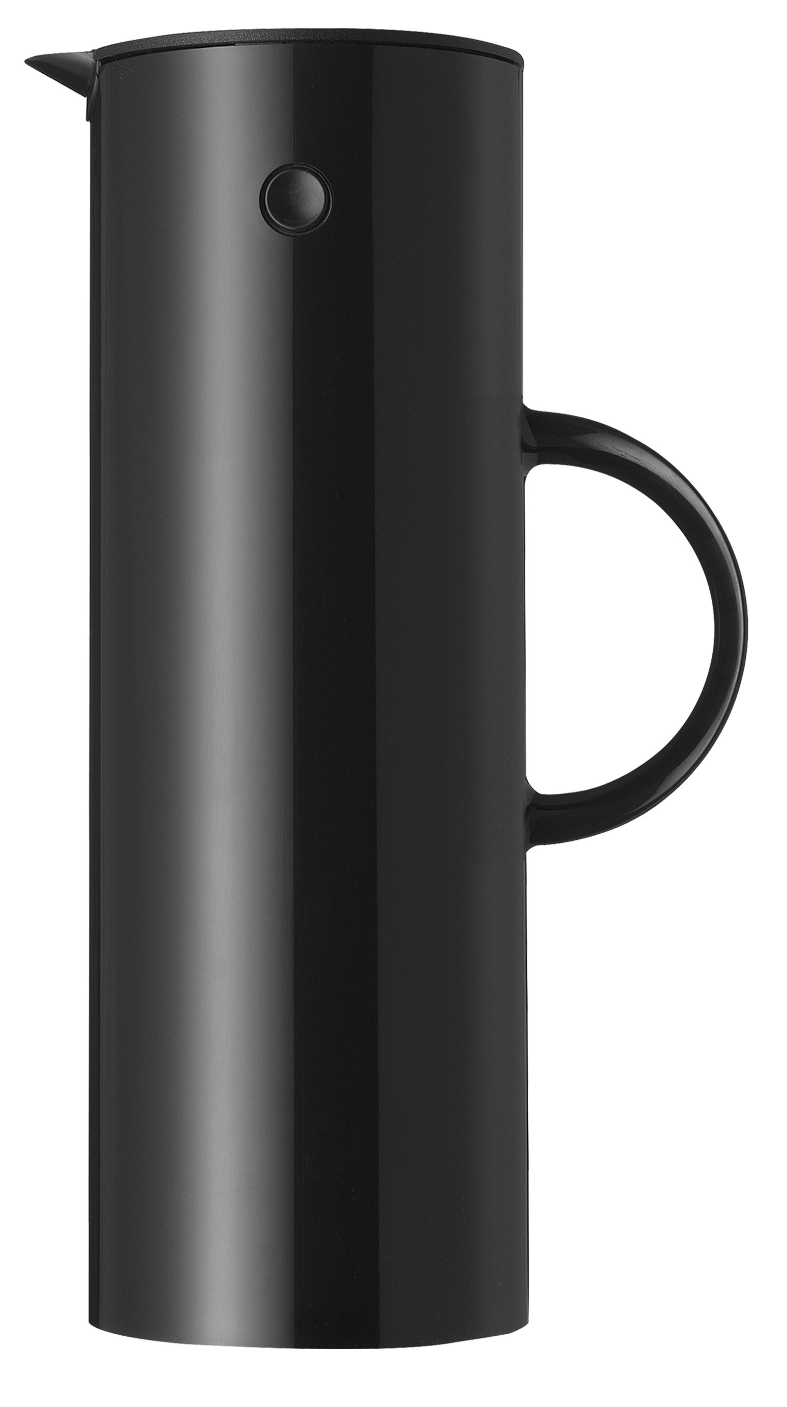 stelton em77 isolierkanne 1l black isolierkannen kaffee. Black Bedroom Furniture Sets. Home Design Ideas