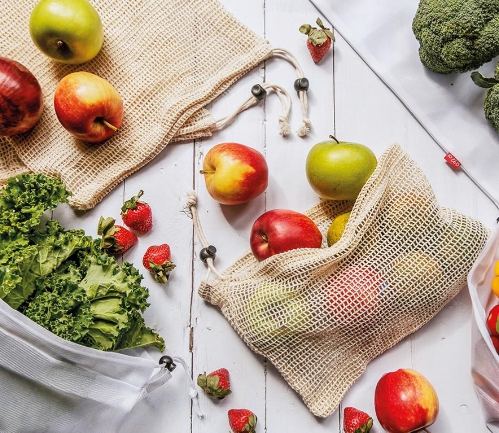 Zassenhaus Obst-/Gemüsebeutel Größe S/M/L, 3tlg