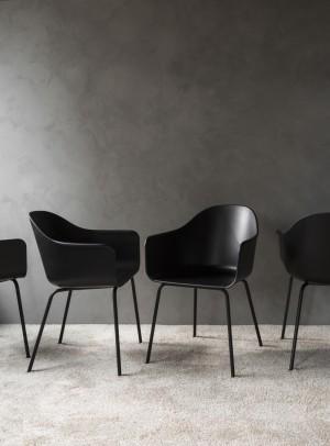 Menu Harbour Chair Sitzstuhl Black Shell Steel Base