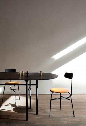 Menu Afteroom Dining Chair 4 Black Cognac Stuhl