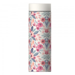 """ASOBU """"LE BATON"""" TRAVEL BOTTLE Isoliertrinkflasche LB17 FLORAL"""