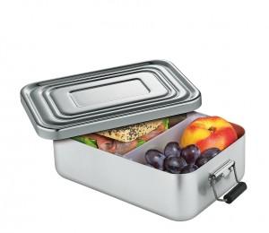 Küchenprofi Lunchbox klein Aluminium silber