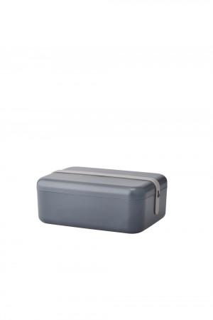 RIG-TIG KEEP-IT COOL Frühstücksdose grey mit blue/grey/misty rose silicone band