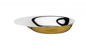 Stelton Foster Schale 36 cm Stahl golden