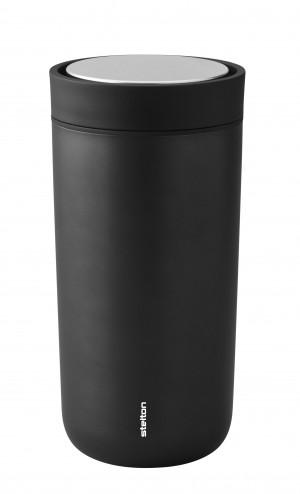 Stelton Isolierbecher To Go Click 0,4L black metallic