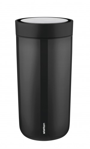 Stelton Isolierbecher To Go Click 0,4L steel black