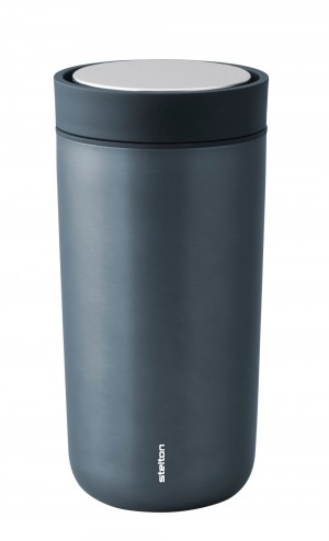 Stelton Isolierbecher To Go Click 0,4L blue metallic