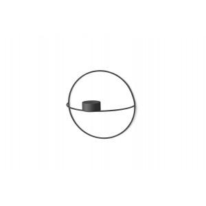 Menu POV Circle Tealight Candle Holder Teelichthalter S Black