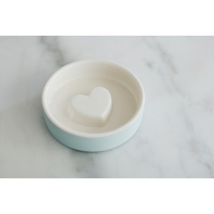 magisso Pet Bowl Futternapf Heart Blue