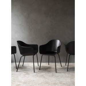 Menu Harbour Chair Sitzstuhl Black Shell Steel Base