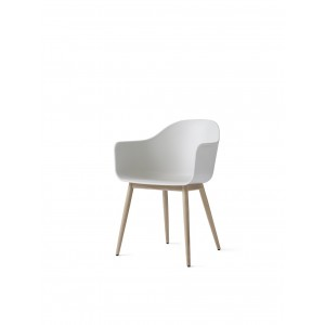 Menu Harbour Chair Sitzstuhl White Shell Wood Base