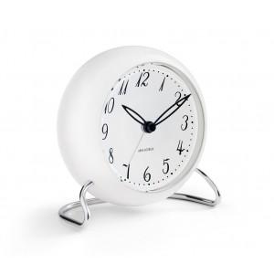 Arne Jacobsen LK Tischuhr mit Alarmfunktion weiß Ø11cm