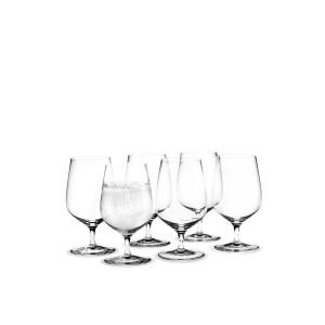 Holmegaard Cabernet Wasserglas mit Stiel 6er Set 36cl